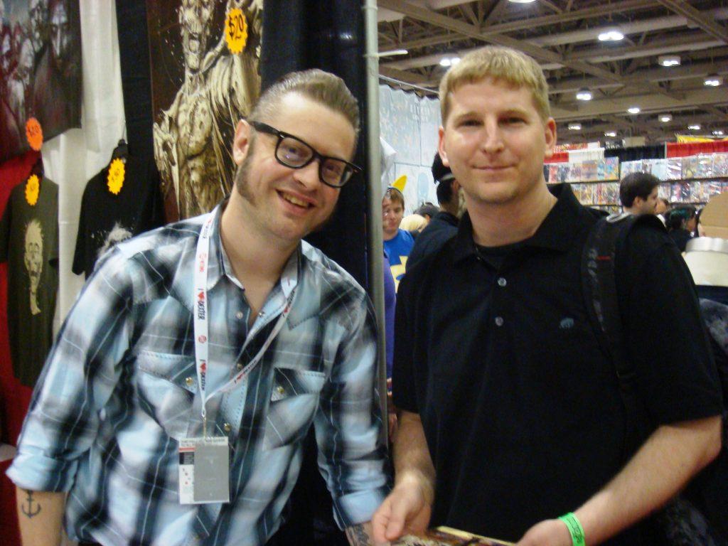 Tony Moore and a fan