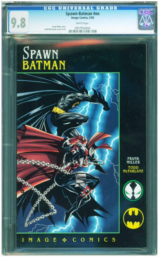 batman spawn batman cgc 9.8 frank miller and todd mcfarlane cgc 9.9