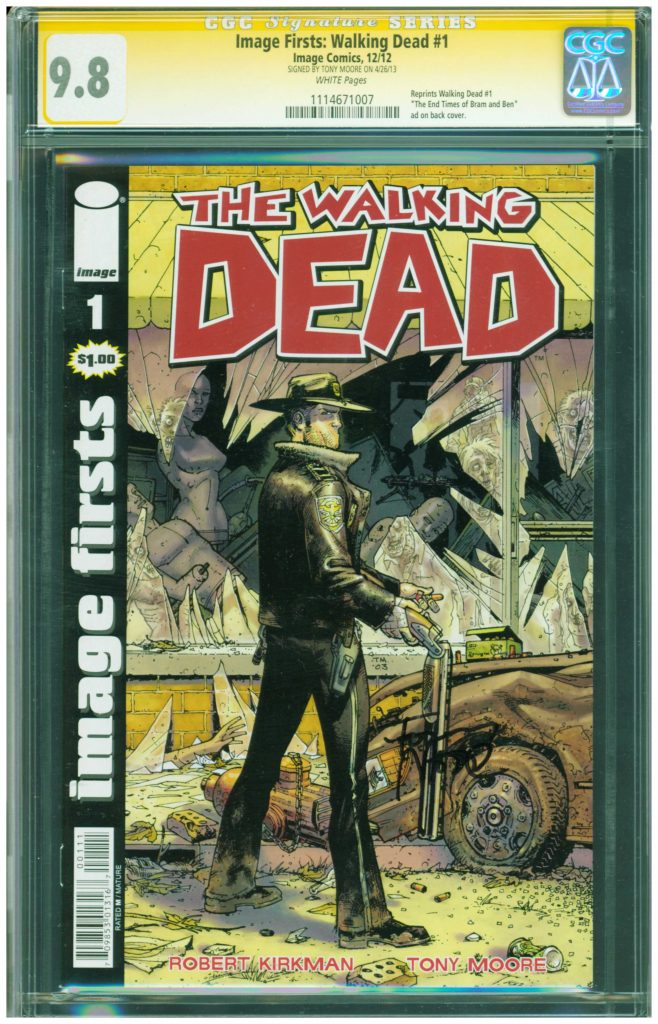 the walking dead 1 image firsts cgc ss 9.8 tony moore cgc ss 9.8