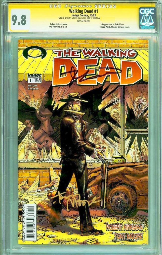 tony moore cgc ss the walking dead #1 cgc comics blog