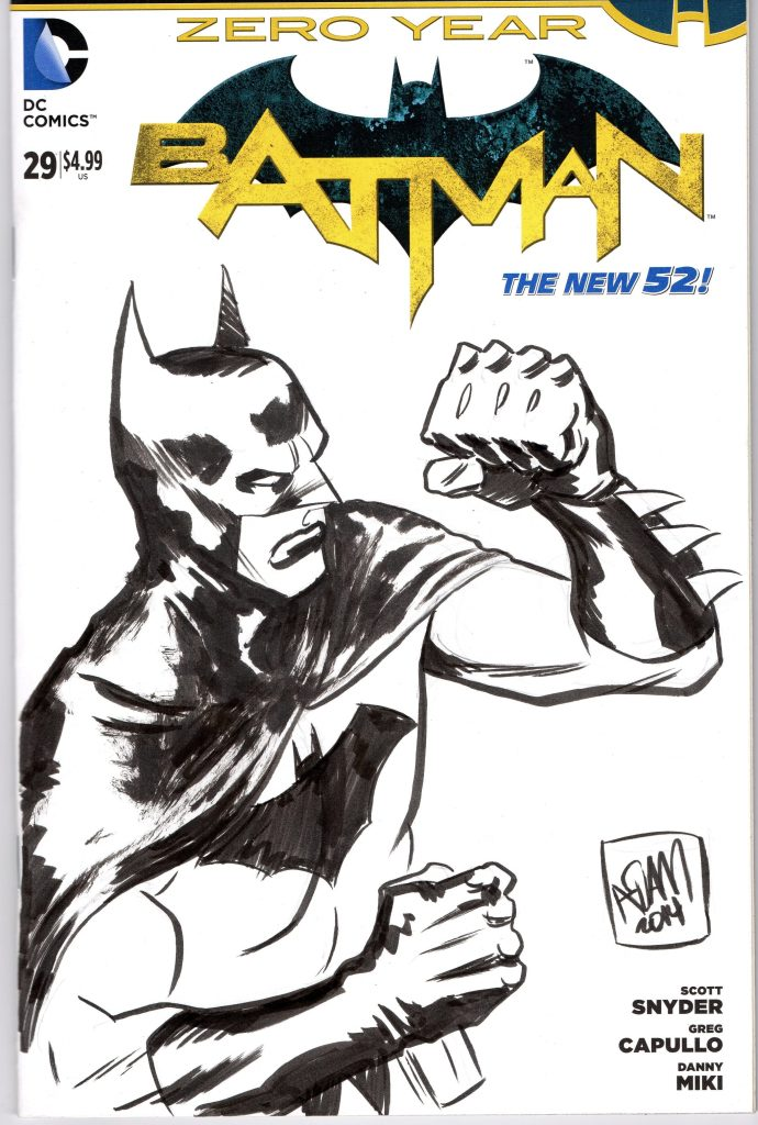adam gorham batman sketch cover