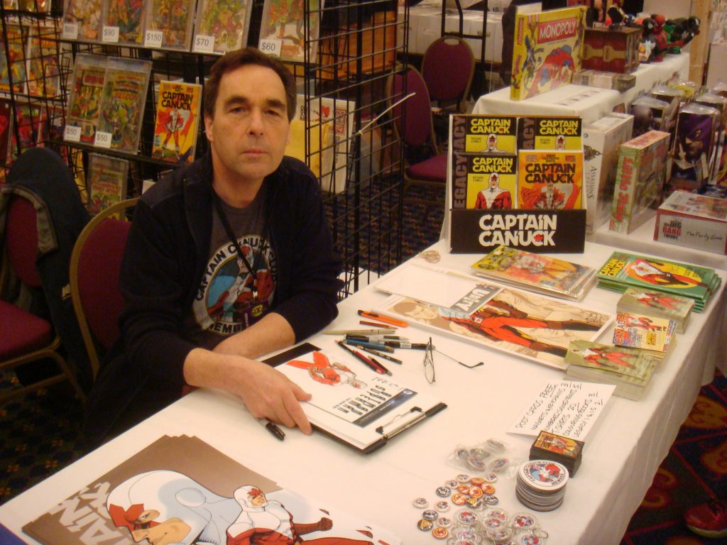 captain canuck richard comely at gta comic con