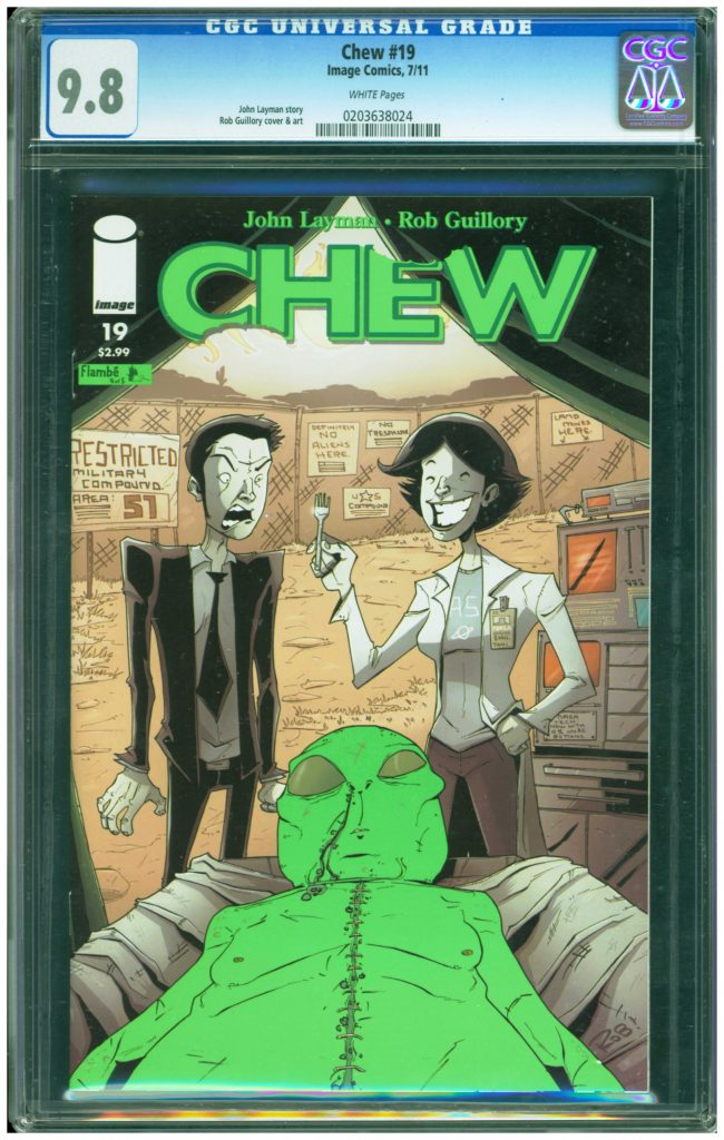 chew 19 cgc 9.8 alien cover