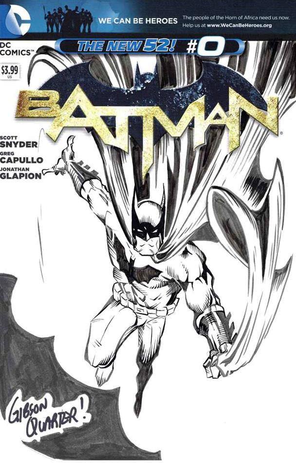 gibson quarter batman sketch