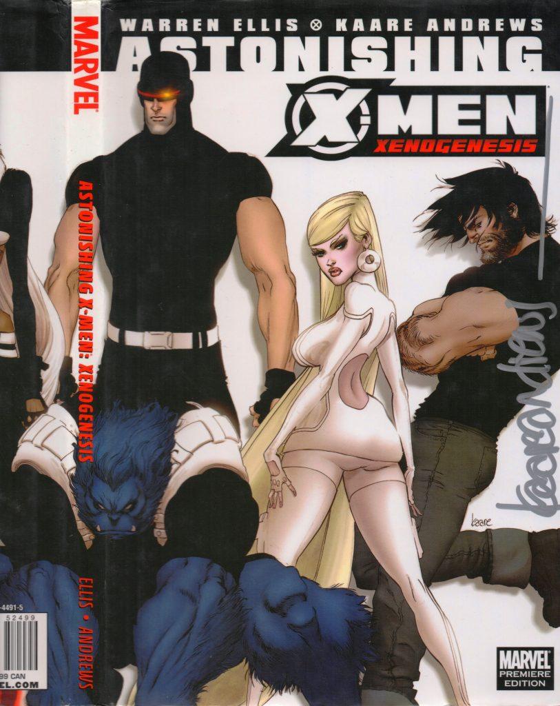 Astonishing X-Men Kaare Andrews Hardcover Signature SIlver Snail