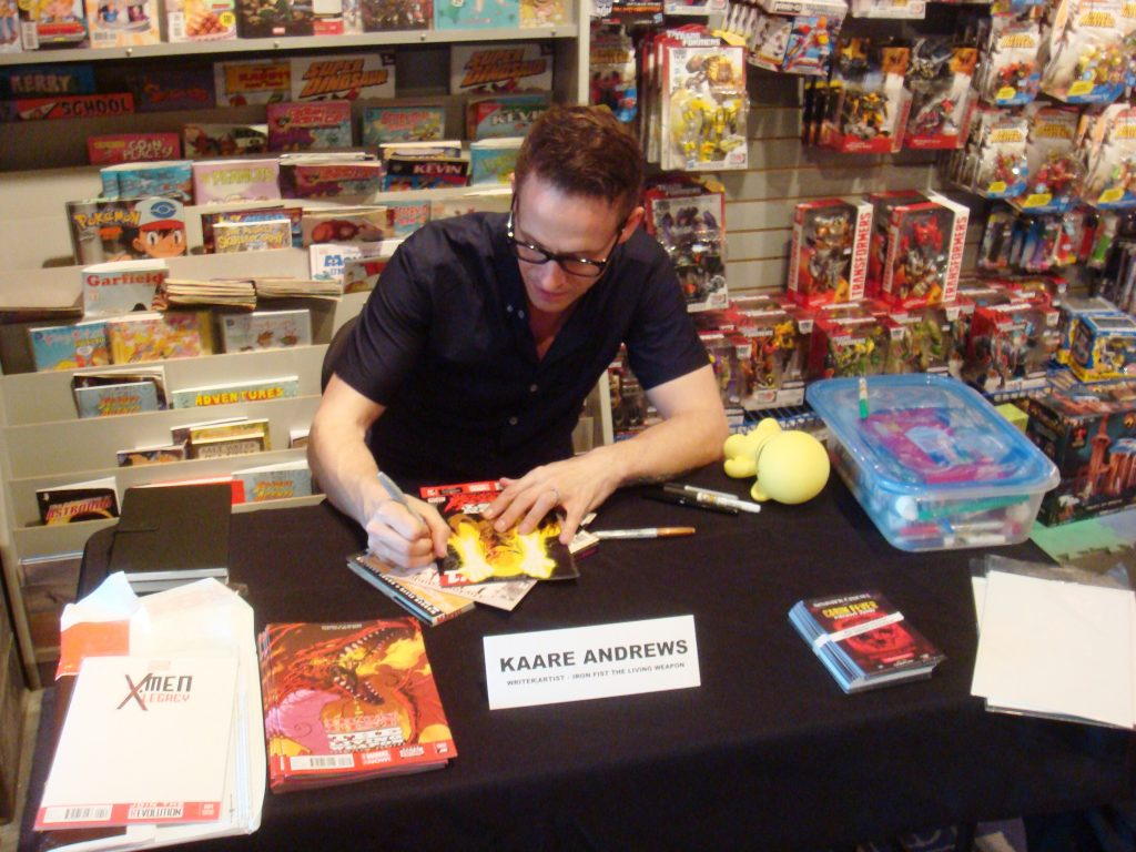 Kaare Andrews At Silver Snail Comics Toronto