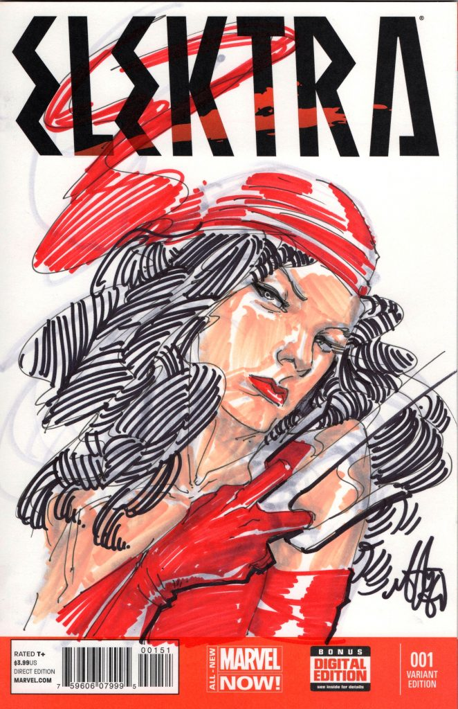 elektra sketch cover mike del mundo