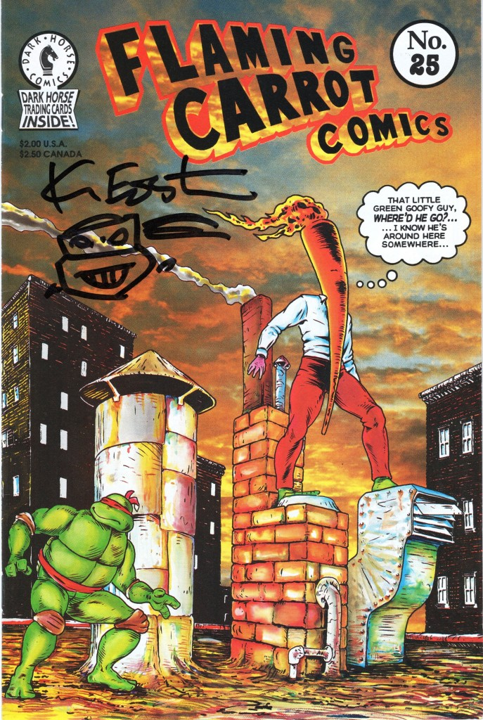 flaming carrot comic signed by kevin eastman at niagara comic con