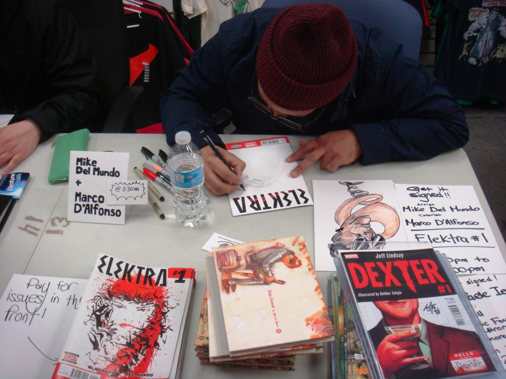 mike del mundo at one million comix