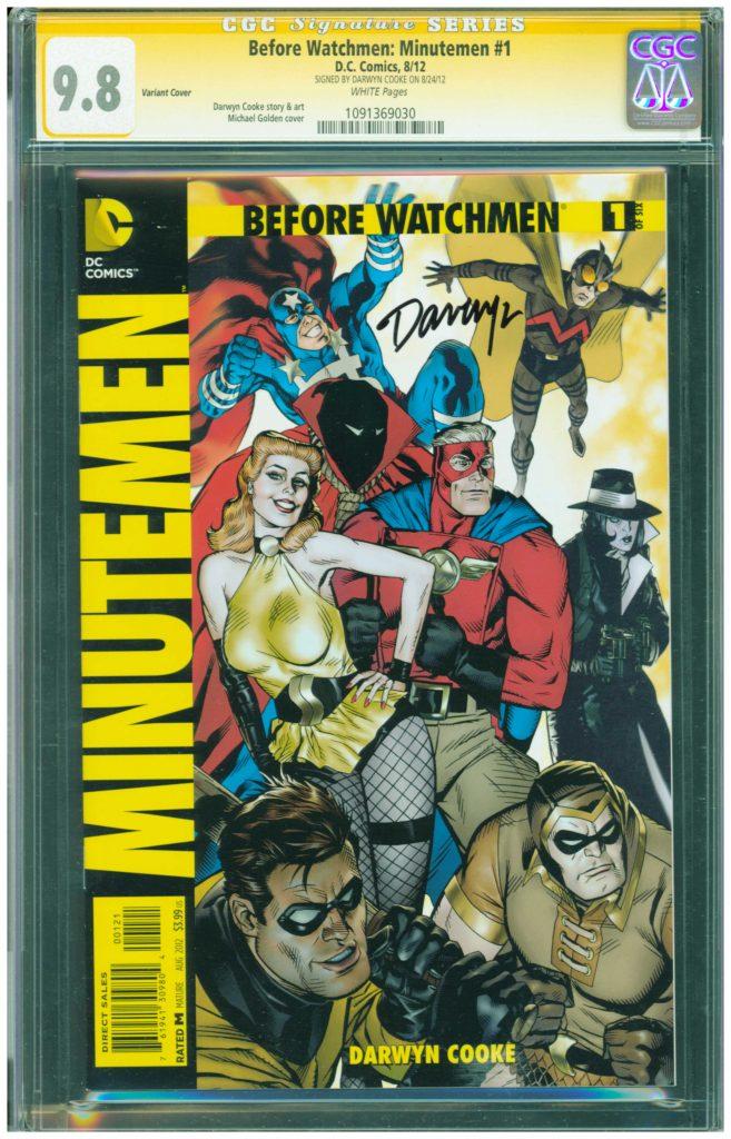 the watchmen minutemen 1 cgc ss 9.8 darwyn cooke cgc ss 9.8 watchmen minutemen before watchmen