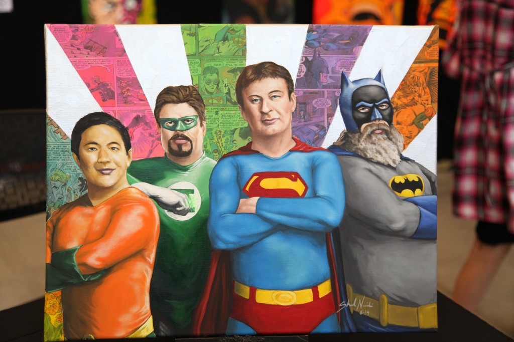 fan painting of comic book men