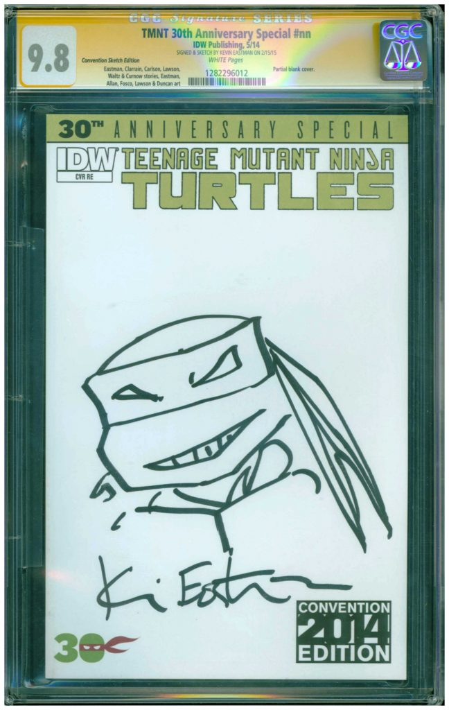 kevin eastman cgc 9.8 sketch cover tmnt