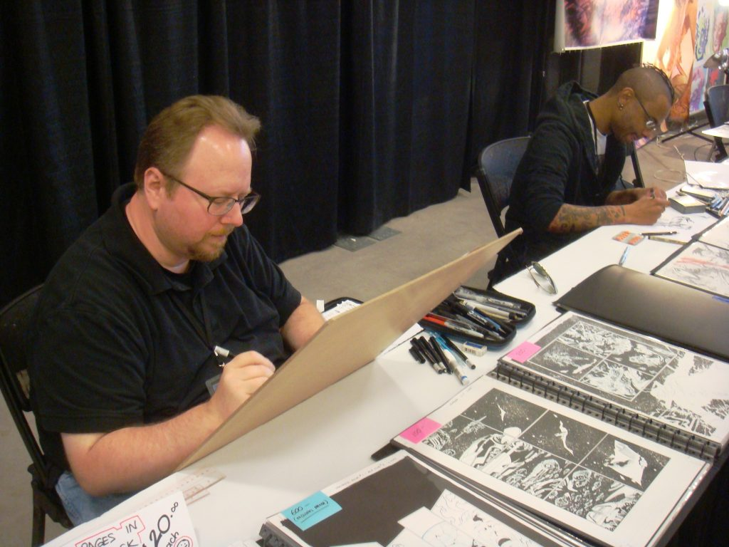 leonard kirk and marco rudy at the niagara falls comic con 2014