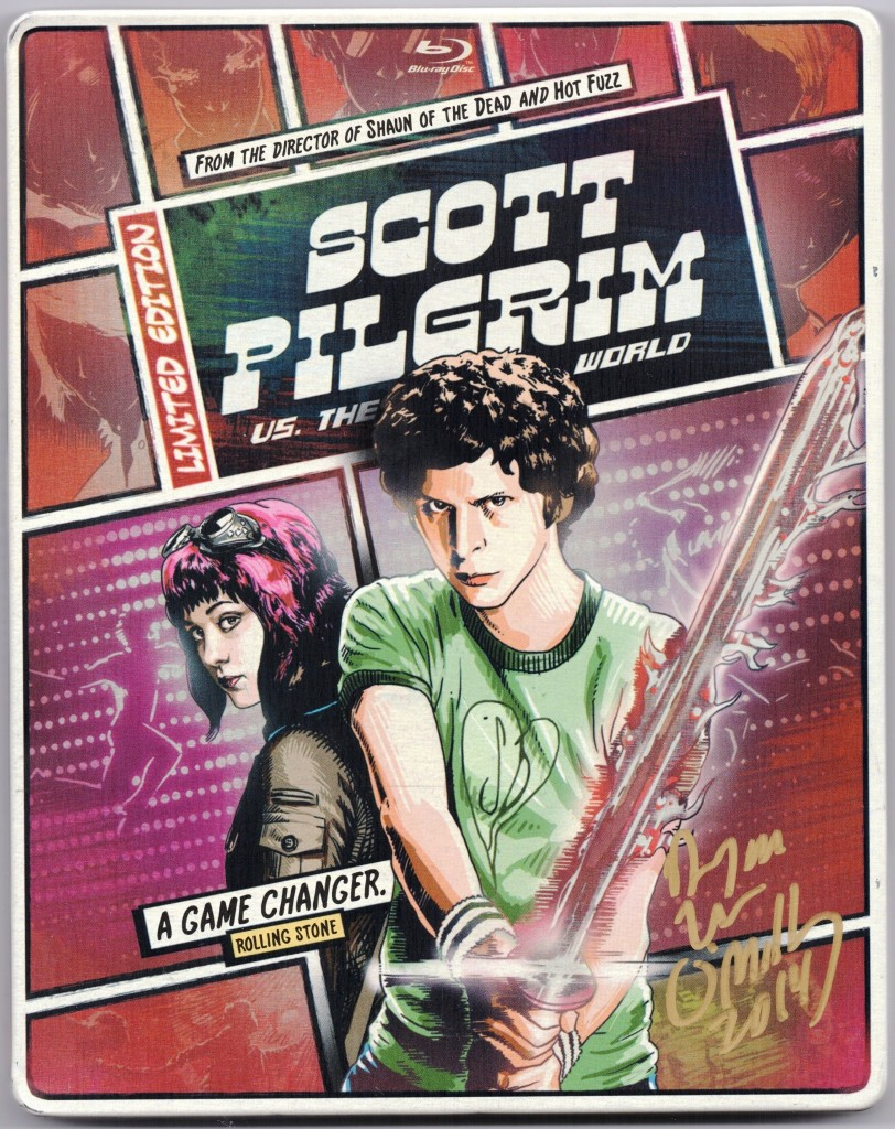 scott pilgrim bluray signed scott lee o malley