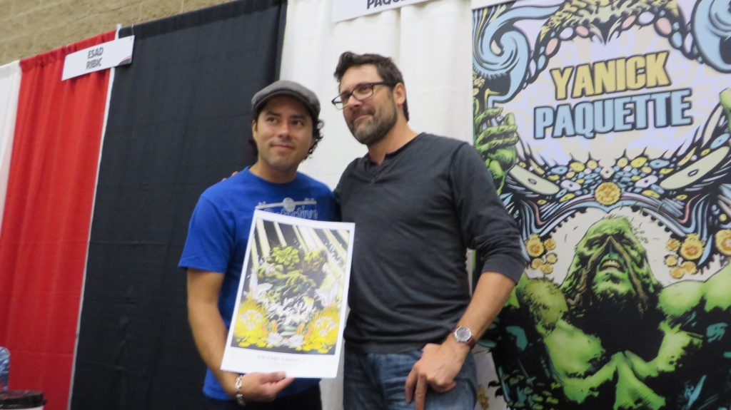 Yanick Paquette and fan at fan expo