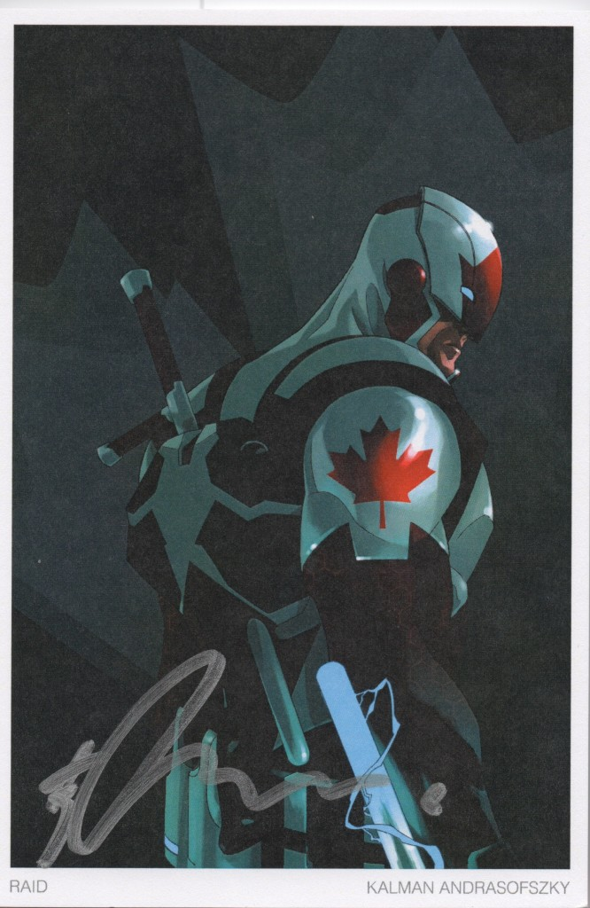 captain canuck signature fan expo 2014