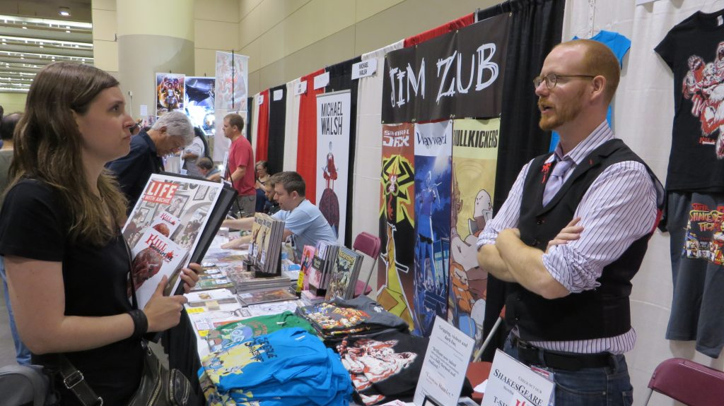 conor mccreery of kill shakespeare at fan expo