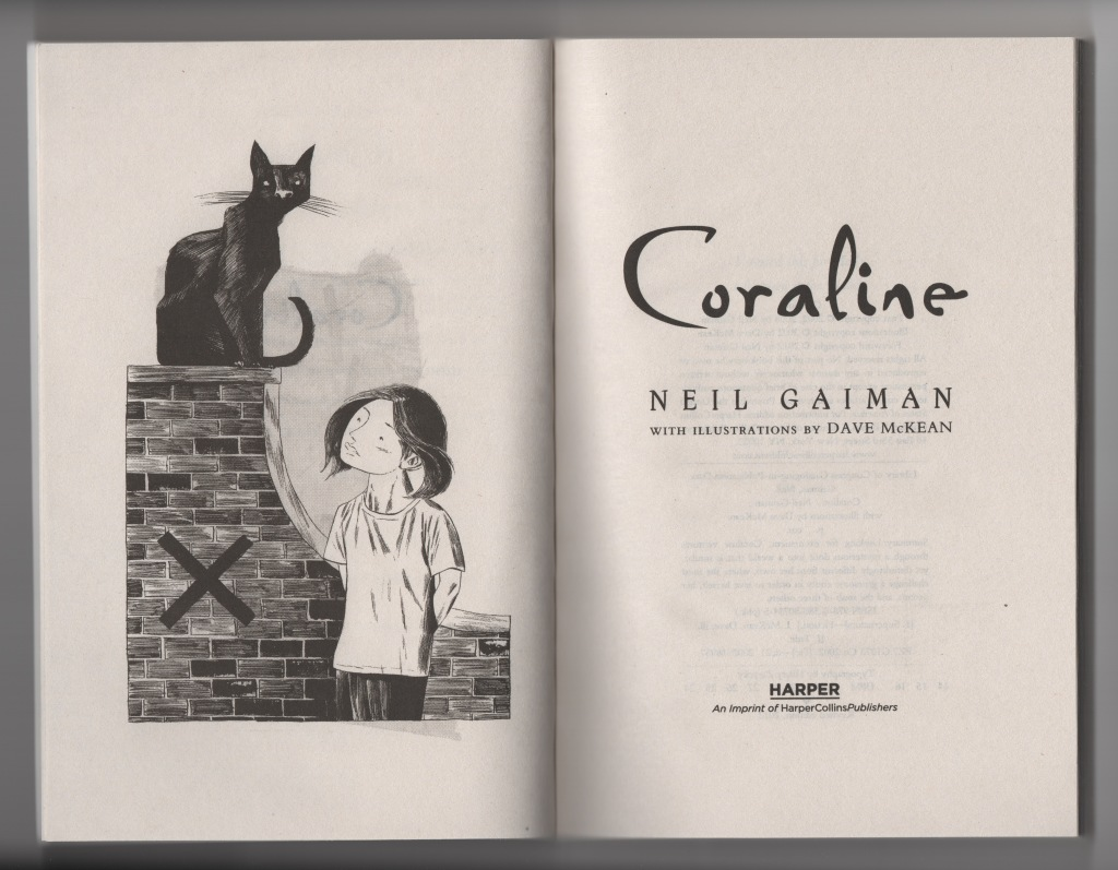coraline novel dave mckean illustration