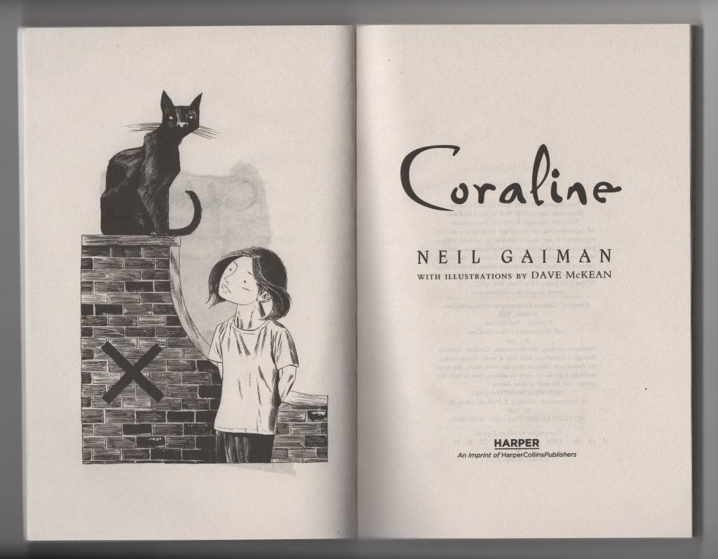 coraline novel dave mckean illustration