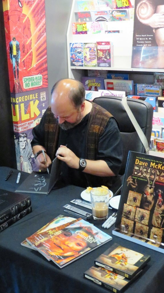 dave mckean at silver snail comics 2014
