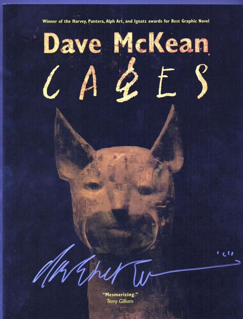 dave mckean cages signed at silver snail comics toronto 2014