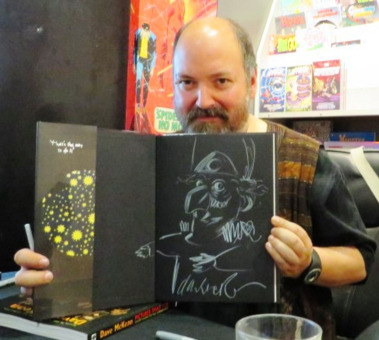 dave mckean sketch in novel