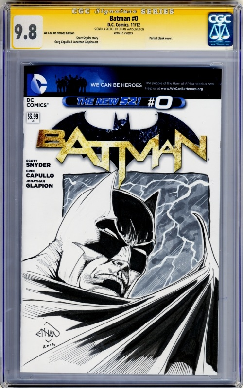 ethan van sciver batman sketch cover cgc