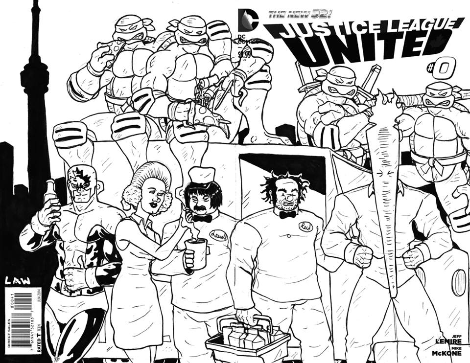 marvin law homage to indies sketch cover