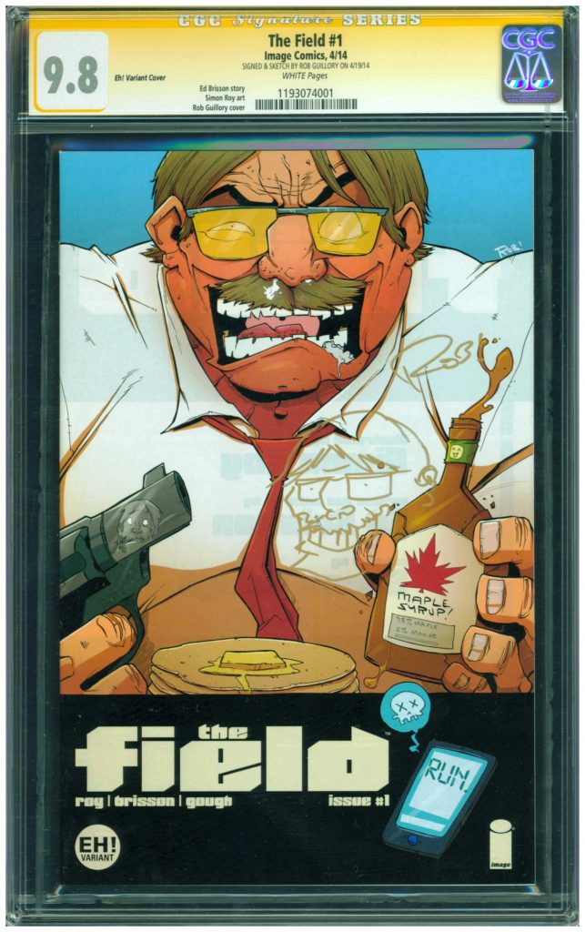 the field 1 cgc ss 9.8 sketch and sig by rob guillory cgc ss 9.8 sketch cover eh variant