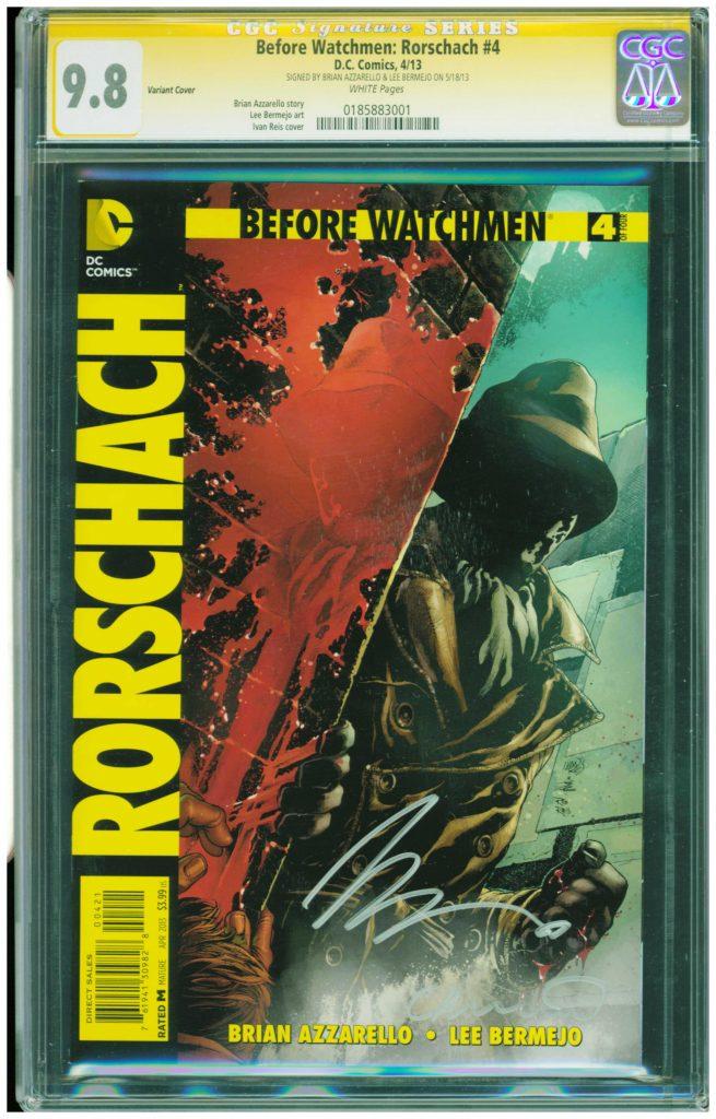 the watchmen cgc ss 9.8 rorschach 9.8 brian azzarello cgc ss before watchmen