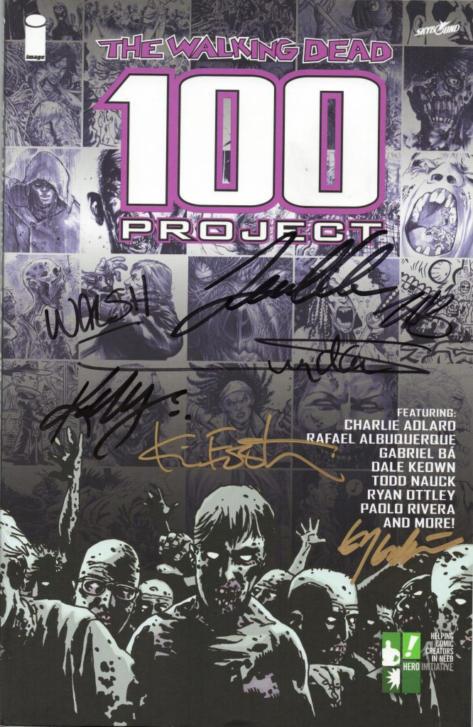 walking dead 100 project signatures