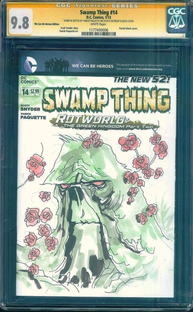 yanick paquette cgc ss sketch cover