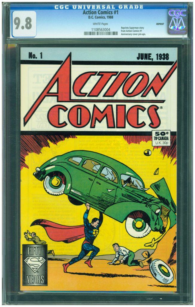 action comics 1 cgc 9.8 reprint