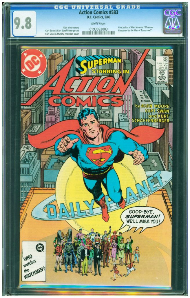 action comics 583 cgc 9.8 alan moore