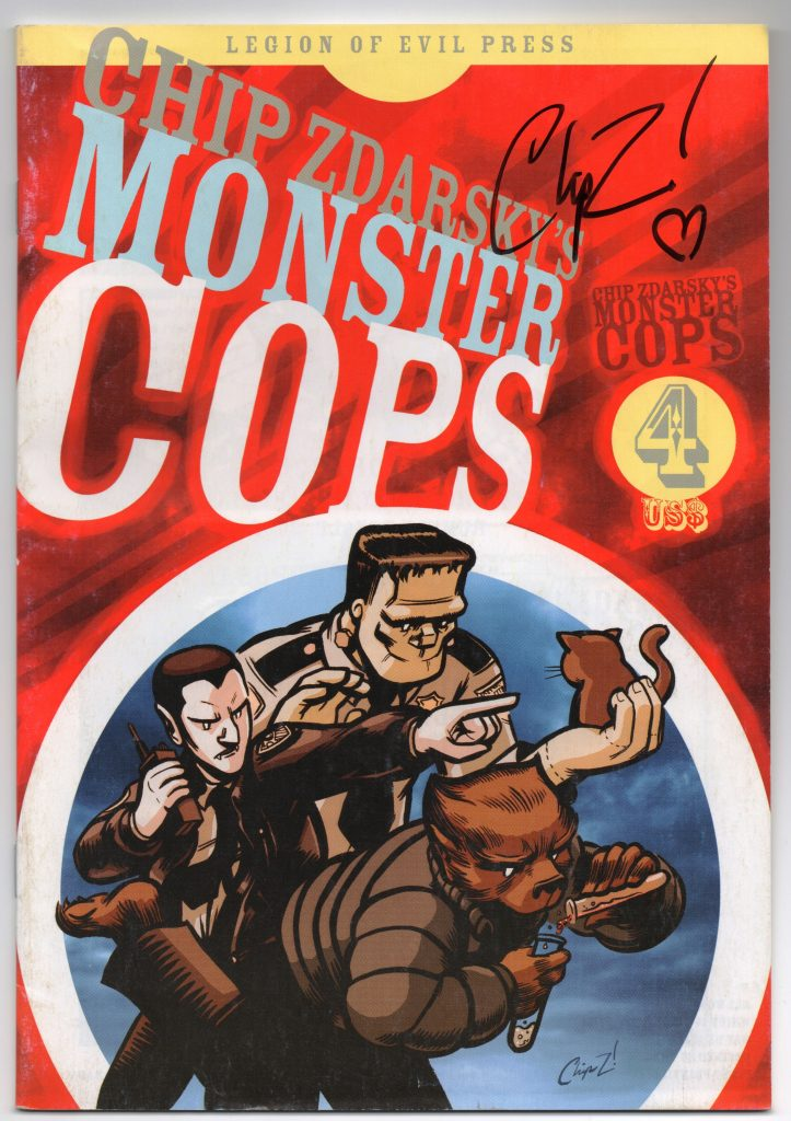 Chip Zdarsky's Monster Cops #4 Signed