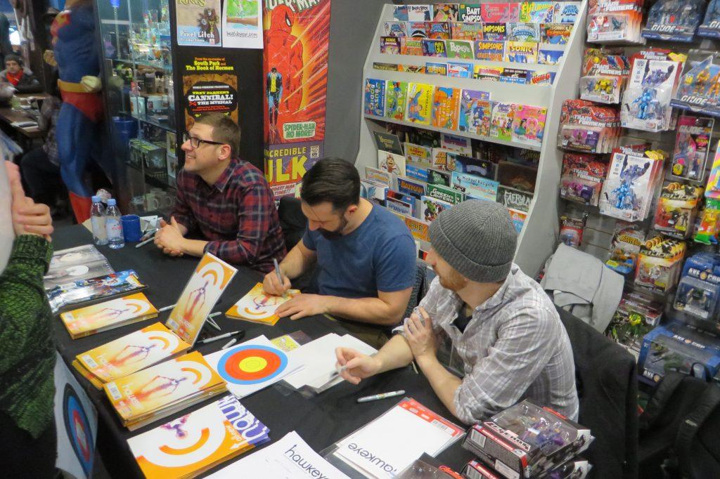 Jeff Lemire, Ramon Perez, Ian Herring at Silver Snail