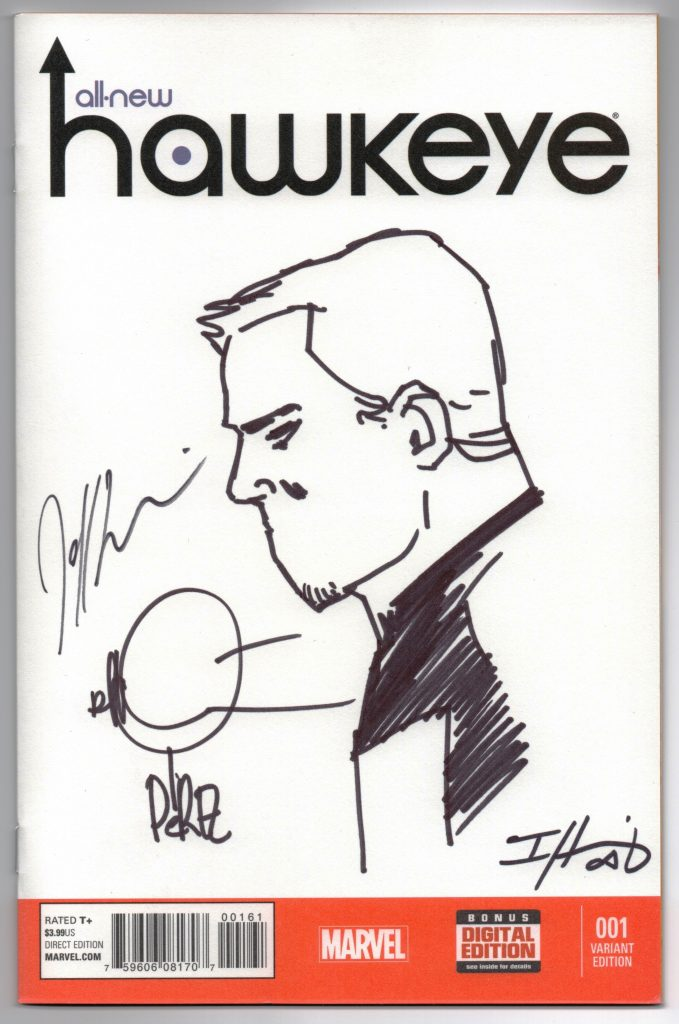 Ramon Perez Hawkeye Sketch