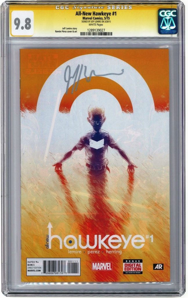all-new hawkeye #1 CGC