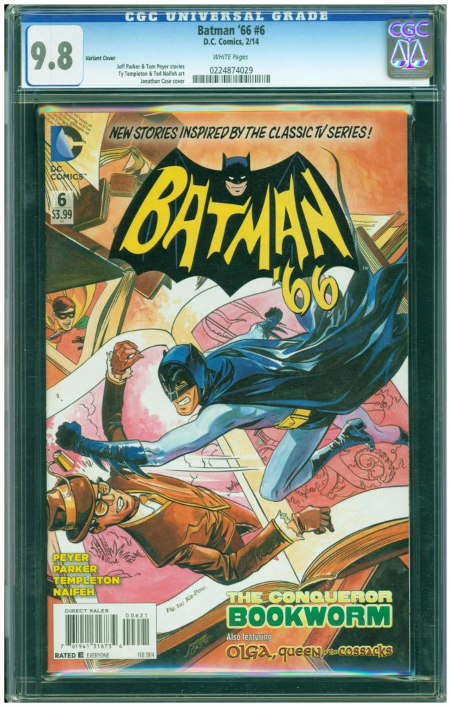 batman 66 bookworm variant  6  ty templeton cgc 9.8