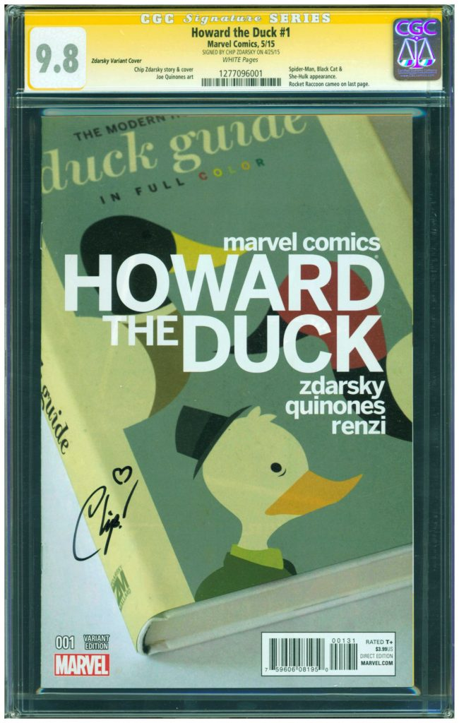 chip zdarsky cgc ss 9.8 howard the duck