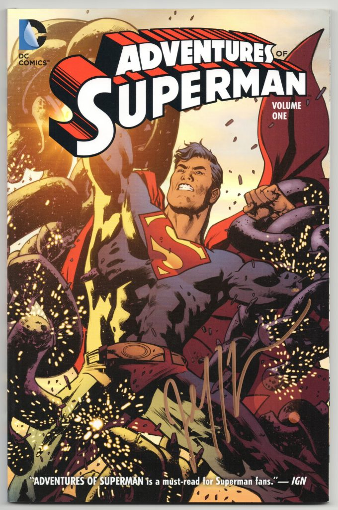 jeff lemire signature superman