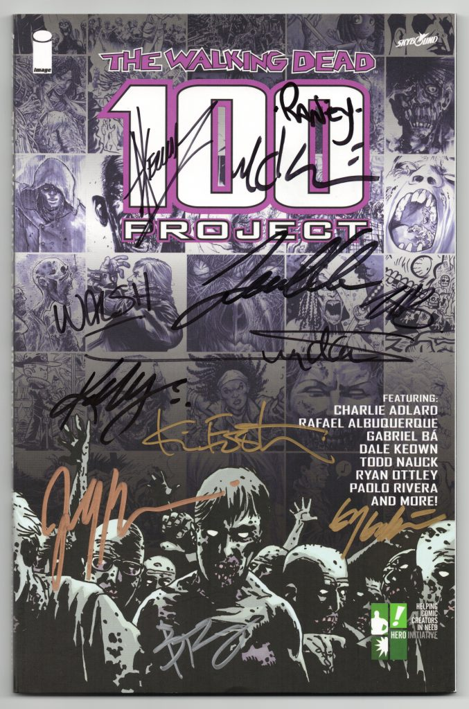 the walking dead 100 project signatures