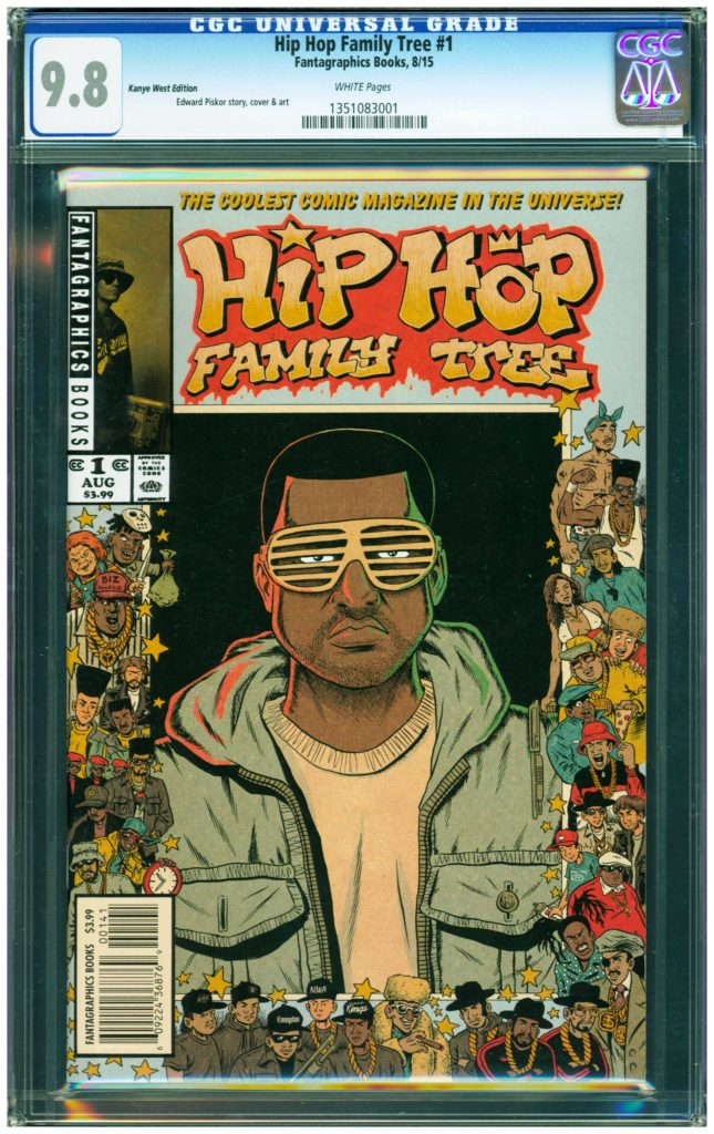 hip hop family tree #1 cgc 9.8 ed piskor kanye west variant