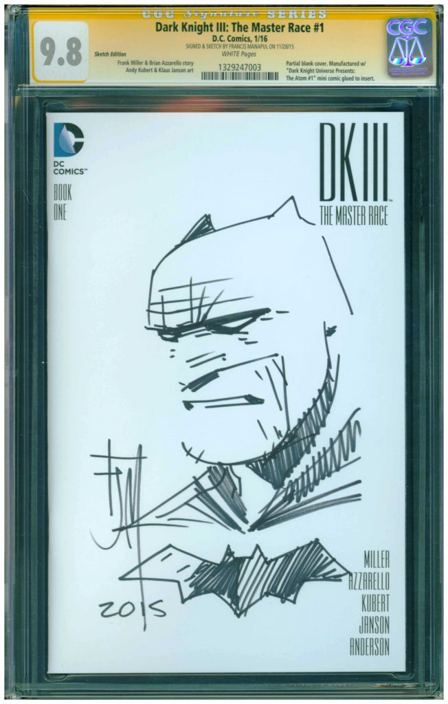 francis manapul cgc ss sketch cover dark knight master race 3