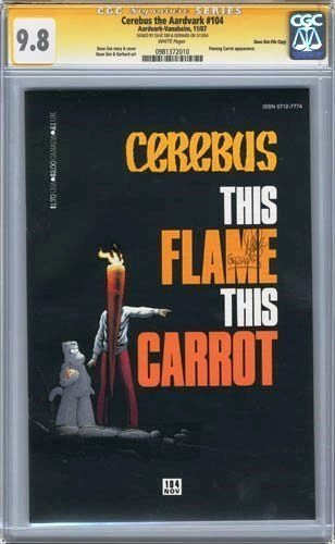 cerebus 104 cgc ss 9.8 signed by dave sim and gerhard