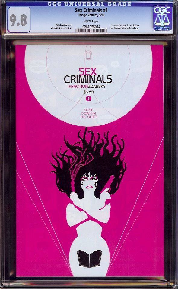 sex criminals #1 cgc 9.8 chip zdarsky