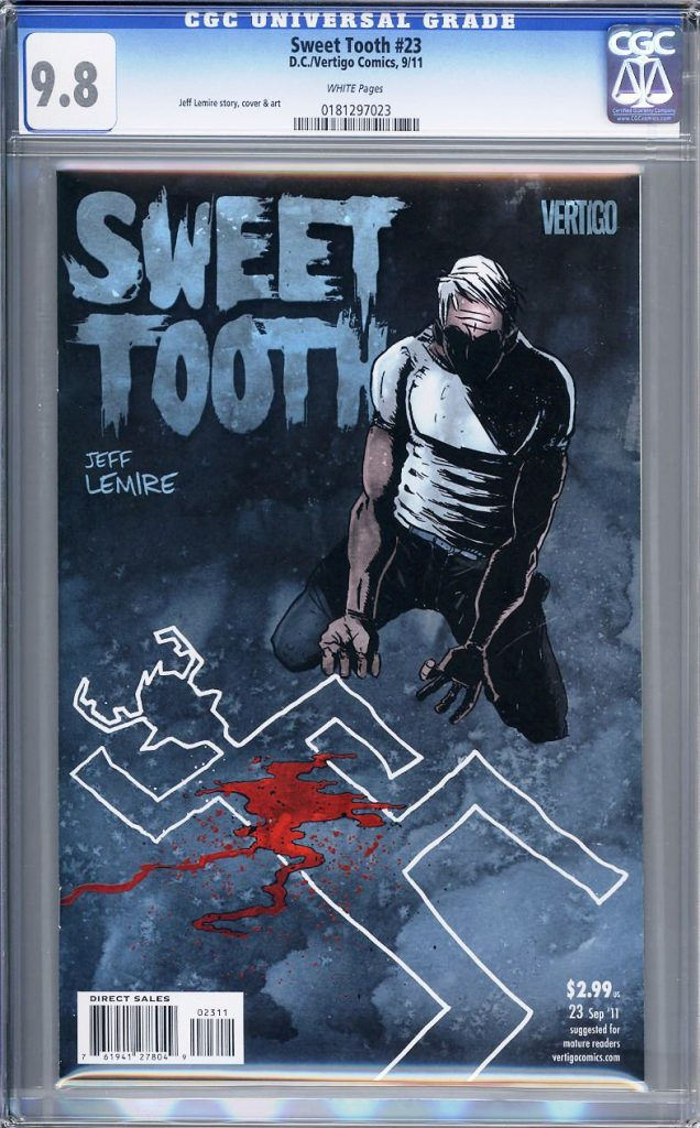 sweet tooth cgc 9.8 jeff lemire tcaf cgc comics blog