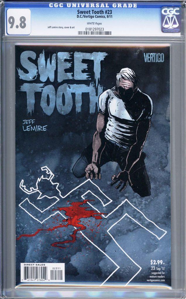 sweet tooth cgc 9.8 jeff lemire tcaf cgc comics blog