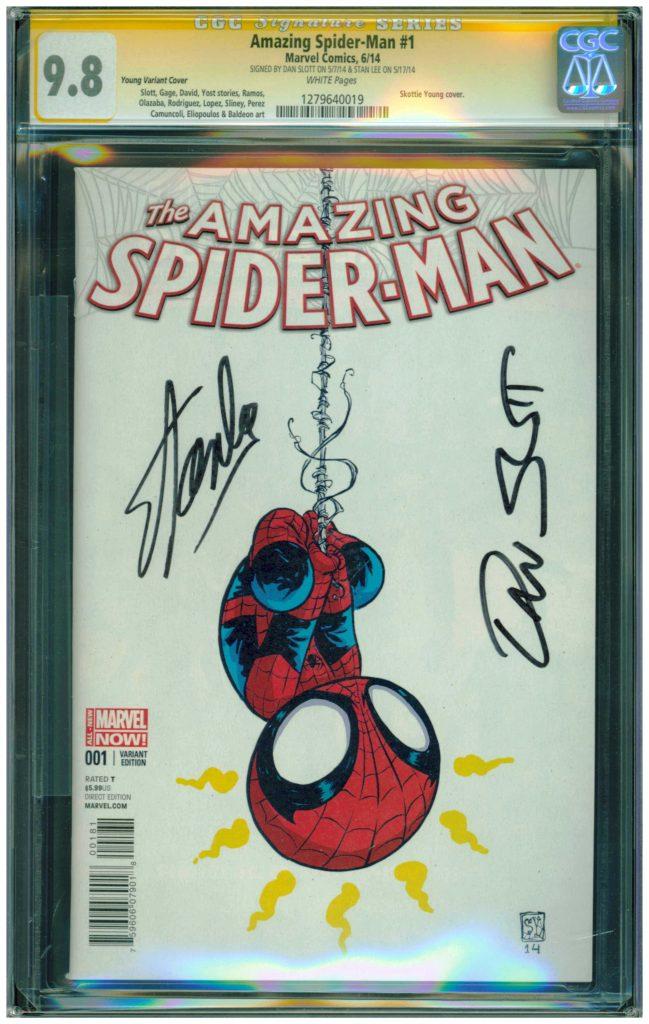 amazing spider-man 1 cgc ss 9.8stan lee and dan slott cgc ss